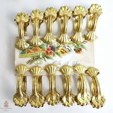 ornate french cau gilt curtain rings clips set of 12 with holdbacks