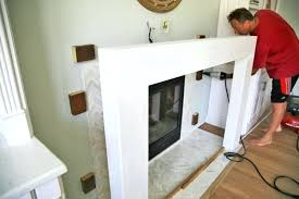 build fireplace mantels building a fireplace surround and securing diy fireplace mantels designs