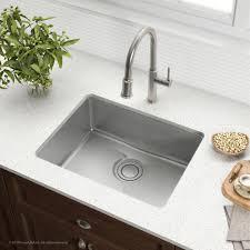stainless steel undermount sink. KRAUS Dex\u0026#8482; 25-Inch Undermount Single Bowl T304Plus TRU16 Gauge Stainless Steel Sink