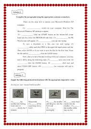 Students worksheet Procedure Text