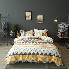 Amazon.com: Modern Boho Tribal Bedding Aztec Stripe Print Cotton ... & Modern Boho Tribal Bedding Aztec Stripe Print Cotton Duvet Quilt Cover Set  Native American Denim Blue Adamdwight.com