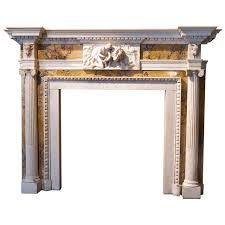 original george iii white statuary and siena marble fireplace surround 1