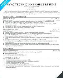 Hvac Resume Samples Technician Resume Sample Hvac Site Engineer