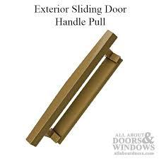 pella sliding door handle exterior pull roman bronze