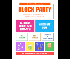 Blank Event Flyer Templates Download This Block Party Flyer Template And Other Free Printables