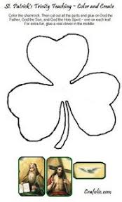 Small Picture Coloring page for St Patricks Day Clover says 3 in 1 to tie