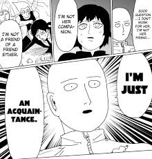 Acquaintancezoned | One-Punch Man | Know Your Meme via Relatably.com