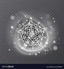 Snowflake With Glittering Texture Royalty Free Vector Image