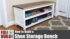 How To Build A Shoe Rack Diy Shoe Storage Bench How To Build Youtube
