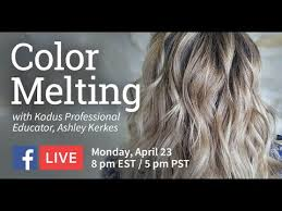 Live Tutorial On How To Use Our Kadus Color Hair Melting Technique
