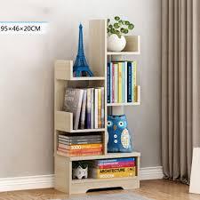 details about modern 4tier bookshelf tree shape cd book storage display shelves organizer rack