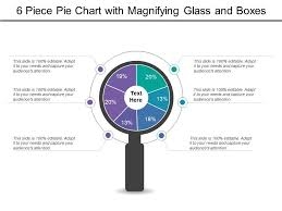 6 Piece Pie Chart Template 6 Piece Pie Chart With Magnifying Glass And Boxes