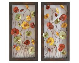 on rectangular wall art panels with dancing cosmos metal wall art pair
