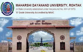 MDU Rohtak University Date Sheet