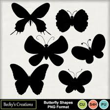 Digital Scrapbooking Kits Butterfly Shapes Png Bc