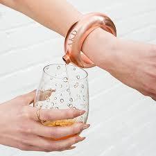 Chart Holder Flask Personalized Rose Gold Bracelet Drinking Flask Monogram Engraving