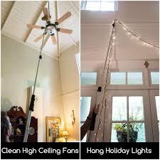 High Ceiling Light Bulb Changer Amazon Docapole 6 24 Foot Extension Pole Multi Purpose Telescopic