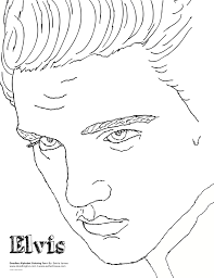 Small Picture Classy Design Elvis Coloring Pages 10 Lovely Ideas Free Printable