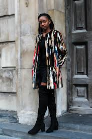 following on from last week this weeks key winter warmers piece is this eye catching multicoloured faux fur coat from zara