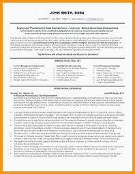 Sales Representative Resume Sample Resumes Medical Rep Objective