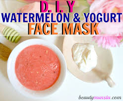 watermelon and yogurt face mask for acne