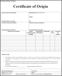 Blank Certificate Of Origin certificate of origin template Ninjaturtletechrepairsco 1