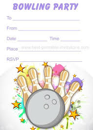Bowling Invitation Cool Bowling Party Invitations Free Printable Kids Birthday Party