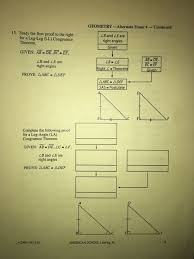 geometry archive com geometry alternate exam 4 continued 15 study the flow proof to the right