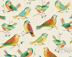 Bird Pattern Custom Bird Fabric Etsy