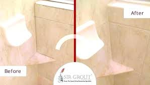 shower tile grout sealer sealing shower grout sealing grout in shower before and after picture of