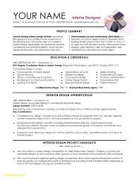 Interior Design Resume Template Word Ataumberglauf Verbandcom