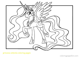 My Little Pony Celestia Coloring Pages At Getdrawingscom Free For