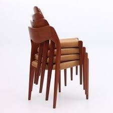 mid century danish modern set of 4 erik buck teak dining chairs o d mobler a s dining room teak antique chairid century