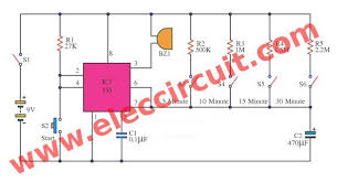 Set A Timer For 10 Minutes 5 30 Minuts Timer Circuit Using Ic 555