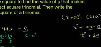 how to solve a quadratic equation by completing the square