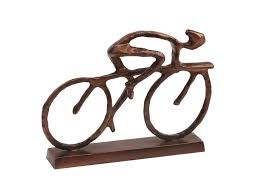 click to expand on peloton abstract cycling team metal wall art with cyclist sculpture antique bronze cyclist statue