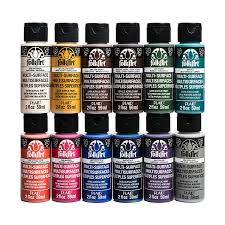com folkart multi surface paint set 2 ounce promo830 no 1 12 pack arts crafts sewing