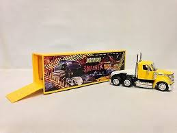 NEW RAY 1/43 International Lonestar Tractor Trailer Blank White ...