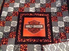 Harley-Davidson Quilt Panels | Harley Davidson fabric panel new ... & Harley Davidson Quilt Adamdwight.com