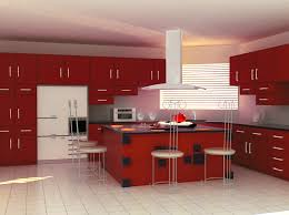 White And Red Kitchen Inspiring Design Ideas Of Modular Small Kitchen With Red Color