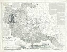 1920s U S Coast Survey Nautical Chart Or Maritime Map Of
