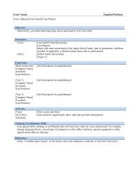 Free Download Resume Templates Microsoft Word Standard Resume