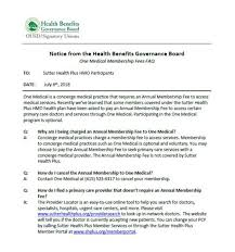 Benefits Office Sutter Health Plus Hmo