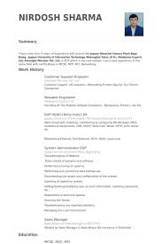 mcse resume samples customer support engineer resume samples visualcv resume samples