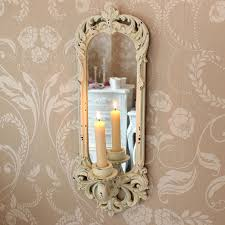 cream wall sconce melody maison lovely shabby chic candle sconces with regard to 17