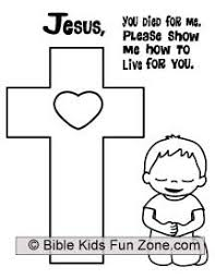 Jesus Loves Me Cross Coloring Pages Catholic Kids Crafts Of On The