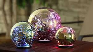 Mercury Glass Globes With Lights Gold Color Changing Mercury Glass Globes 845008 From Evergreen Garden