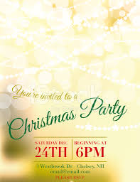 bokeh lights christmas party invitation template stock photos bokeh lights christmas party invitation template