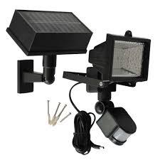 solar goes green solar powered 50 ft range black motion outdoor 54 led security