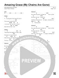 Amazing Grace My Chains Are Gone Chord Chart Editable